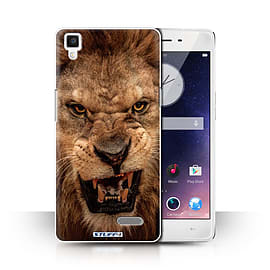 STUFF4 Phone Case/Cover for Oppo R7/Lion Design/Wildlife Animals Collection Mobile phones