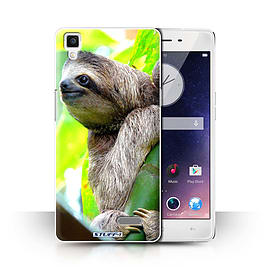 STUFF4 Phone Case/Cover for Oppo R7/Sloth Design/Wildlife Animals Collection Mobile phones