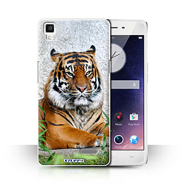 STUFF4 Phone Case/Cover for Oppo R7/Tiger Design/Wildlife Animals Collection Mobile phones