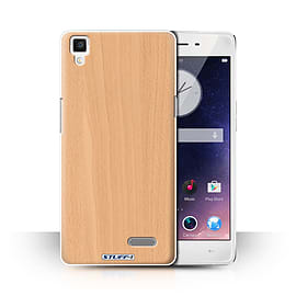 STUFF4 Phone Case/Cover for Oppo R7/Beech Design/Wood Grain Effect/Pattern Collection Mobile phones
