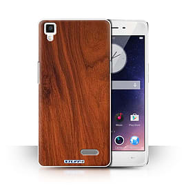 STUFF4 Phone Case/Cover for Oppo R7/Mahogany Design/Wood Grain Effect/Pattern Collection Mobile phones