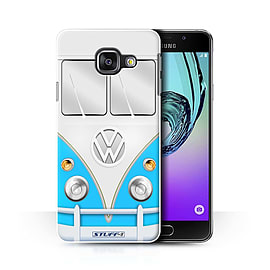 STUFF4 Phone Case/Cover for Samsung Galaxy A3 (2016)/Blue Design/VW Camper Van Collection Mobile phones