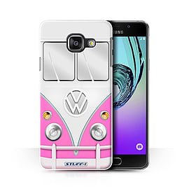 STUFF4 Phone Case/Cover for Samsung Galaxy A3 (2016)/Pink Design/VW Camper Van Collection Mobile phones