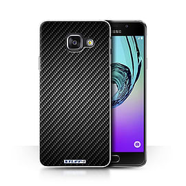STUFF4 Phone Case/Cover for Samsung Galaxy A3 (2016)/Grey/Carbon Fibre Effect/Pattern Collection Mobile phones