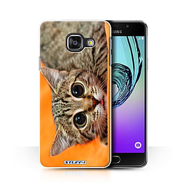 STUFF4 Phone Case/Cover for Samsung Galaxy A3 (2016)/Big Eye Cat Design/Funny Animals Collection Mobile phones