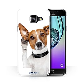 STUFF4 Phone Case/Cover for Samsung Galaxy A3 (2016)/Listening Dog Design/Funny Animals Collection Mobile phones
