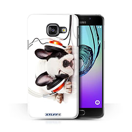 STUFF4 Phone Case/Cover for Samsung Galaxy A3 (2016)/Snooze Headphone Dog/Funny Animals Collection Mobile phones