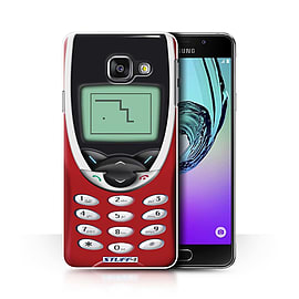 STUFF4 Phone Case/Cover for Samsung Galaxy A3 (2016)/Red Nokia 8210 Design/Retro Phones Collection Mobile phones
