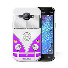 STUFF4 Phone Case/Cover for Samsung Galaxy J1 Ace/J110/Purple Design/VW Camper Van Collection Mobile phones