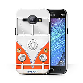 STUFF4 Phone Case/Cover for Samsung Galaxy J1 Ace/J110/Red Design/VW Camper Van Collection Mobile phones