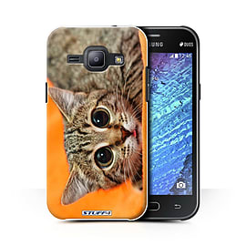 STUFF4 Phone Case/Cover for Samsung Galaxy J1 Ace/J110/Big Eye Cat Design/Funny Animals Collection Mobile phones