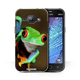 STUFF4 Phone Case/Cover for Samsung Galaxy J1 Ace/J110/Frog Design/Wildlife Animals Collection Mobile phones