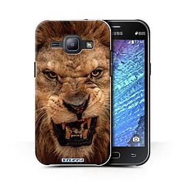 STUFF4 Phone Case/Cover for Samsung Galaxy J1 Ace/J110/Lion Design/Wildlife Animals Collection Mobile phones