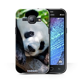 STUFF4 Phone Case/Cover for Samsung Galaxy J1 Ace/J110/Panda Bear Design/Wildlife Animals Collection Mobile phones