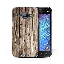 STUFF4 Phone Case/Cover for Samsung Galaxy J1 Ace/J110/Driftwood/Wood Grain Effect/Pattern Mobile phones