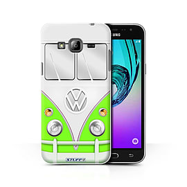 STUFF4 Phone Case/Cover for Samsung Galaxy J3/Green Design/VW Camper Van Collection Mobile phones