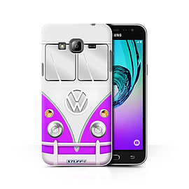 STUFF4 Phone Case/Cover for Samsung Galaxy J3/Purple Design/VW Camper Van Collection Mobile phones