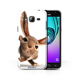 STUFF4 Phone Case/Cover for Samsung Galaxy J3/Peeking Bunny Design/Funny Animals Collection Mobile phones