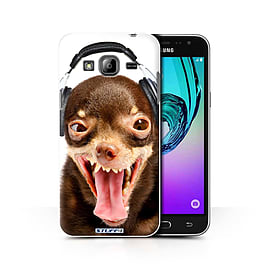 STUFF4 Phone Case/Cover for Samsung Galaxy J3/Ridiculous Dog Design/Funny Animals Collection Mobile phones