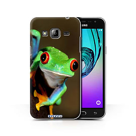 STUFF4 Phone Case/Cover for Samsung Galaxy J3/Frog Design/Wildlife Animals Collection Mobile phones