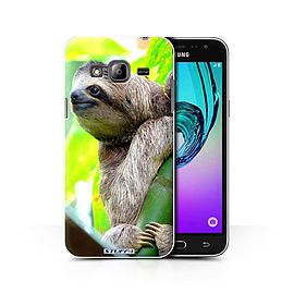 STUFF4 Phone Case/Cover for Samsung Galaxy J3/Sloth Design/Wildlife Animals Collection Mobile phones