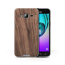 STUFF4 Phone Case/Cover for Samsung Galaxy J3/Walnut Design/Wood Grain Effect/Pattern Collection Mobile phones