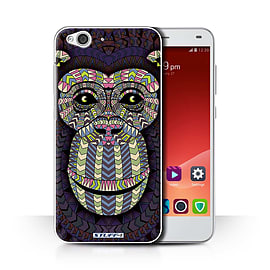 STUFF4 Phone Case/Cover for ZTE Blade S6/Monkey-Colour Design/Aztec Animal Design Collection Mobile phones