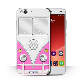 STUFF4 Phone Case/Cover for ZTE Blade S6/Pink Design/VW Camper Van Collection Mobile phones