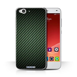 STUFF4 Phone Case/Cover for ZTE Blade S6/Green Design/Carbon Fibre Effect/Pattern Collection Mobile phones