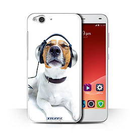 STUFF4 Phone Case/Cover for ZTE Blade S6/Chillin Headphone Dog Design/Funny Animals Collection Mobile phones