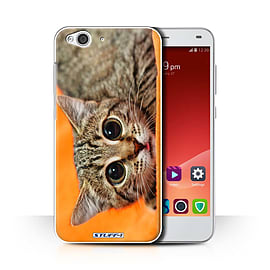 STUFF4 Phone Case/Cover for ZTE Blade S6/Big Eye Cat Design/Funny Animals Collection Mobile phones