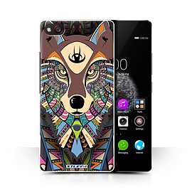 STUFF4 Phone Case/Cover for ZTE Nubia Z9 Mini/Wolf-Colour Design/Aztec Animal Design Collection Mobile phones