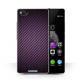 STUFF4 Phone Case/Cover for ZTE Nubia Z9 Mini/Purple Design/Carbon Fibre Effect/Pattern Collection Mobile phones