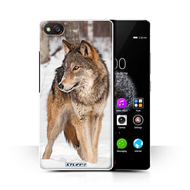 STUFF4 Phone Case/Cover for ZTE Nubia Z9 Mini/Wolf Design/Wildlife Animals Collection Mobile phones