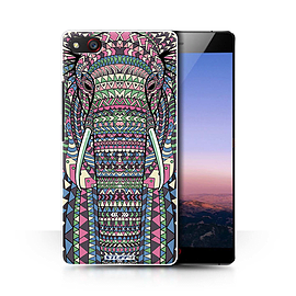 STUFF4 Phone Case/Cover for ZTE Nubia Z9 Max/Elephant-Colour Design/Aztec Animal Design Collection Mobile phones