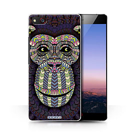 STUFF4 Phone Case/Cover for ZTE Nubia Z9 Max/Monkey-Colour Design/Aztec Animal Design Collection Mobile phones