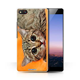 STUFF4 Phone Case/Cover for ZTE Nubia Z9 Max/Big Eye Cat Design/Funny Animals Collection Mobile phones