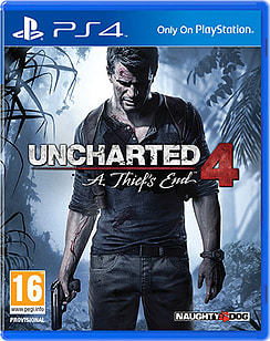 Uncharted 4: A Thief's End PS4 Cover Art