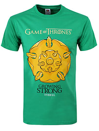 Game of Thrones Growing Strong Tyrell Green Men's T-shirt: XXL (Mens 44-46) Clothing