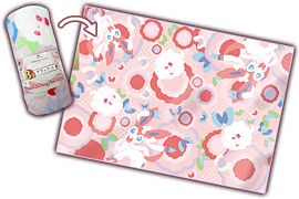 Pokemon - Ichiban Kuji - Pikachu and Modern Art Sylveon and Swirlix Pattern Blanket (Prize B) Memorabilia