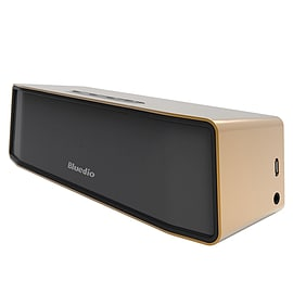 Bluedio BS-2 Mini Bluetooth Portable Speaker - 3D Stereo Sound in Gold Audio