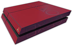 PS4 Skin EXCLUSIVE Vibrant Red Coloured Logo Skin with 2 Controller Skins Playstation 4 screen shot 2