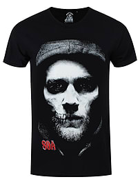 Sons of Anarchy Half Jax Skull Black Men's SoA T-shirt: Medium (Mens 38 - 40) Clothing