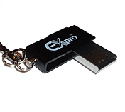 Ex-Pro® 8Gb DataRoto USB Metal Micro Pen Drive (with Keychain) for Samsung Acer screen shot 3