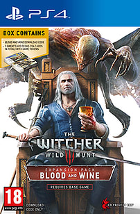 The Witcher 3: Wild Hunt Blood and Wine Playstation 4 Cover Art