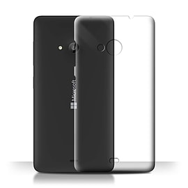 STUFF4 Clear Hard Back Phone Case for Microsoft Lumia 535 Mobile phones