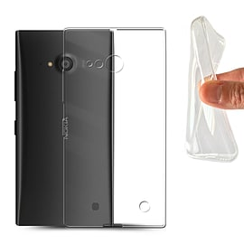STUFF4 Clear Gel/TPU Bumper Phone Case for Nokia Lumia 730 Mobile phones