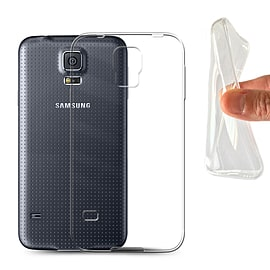 STUFF4 Clear Gel/TPU Bumper Phone Case for Samsung Galaxy S5/SV Mobile phones