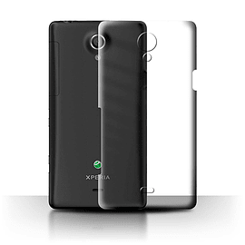 STUFF4 Clear Hard Back Phone Case for Sony Xperia T/LT30 Mobile phones