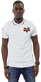 Official Street Fighter White Polo Shirt (Large) Clothing